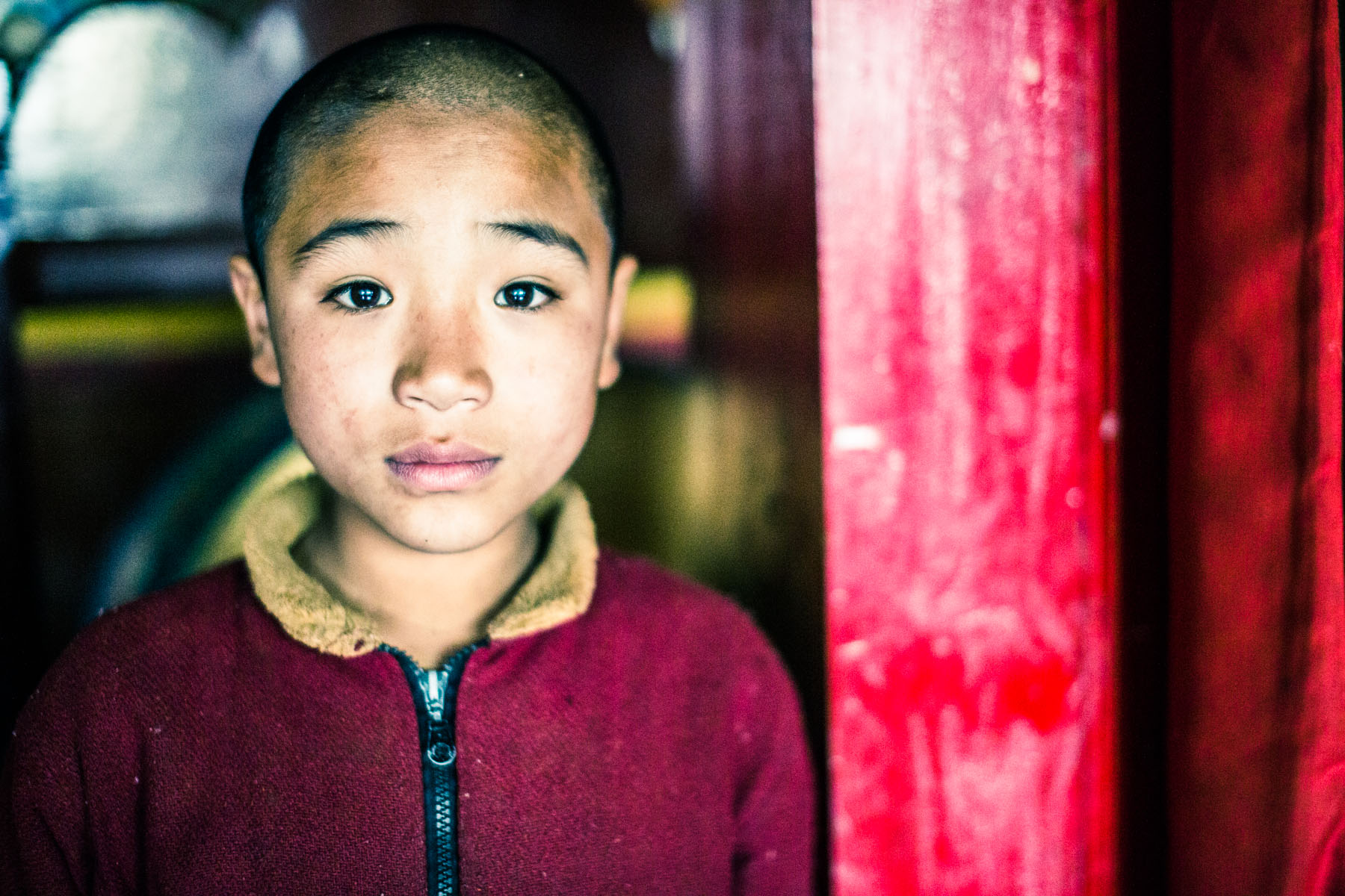 Monastery boy in the Himalaya