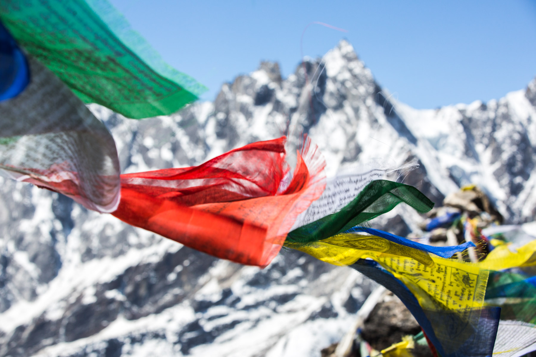 Prayer flag in the Gokyo valley
