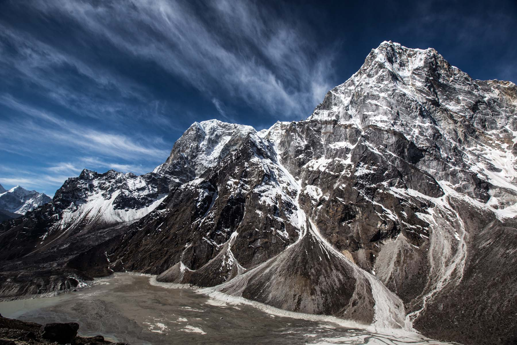 Streaks of White in the Himalaya