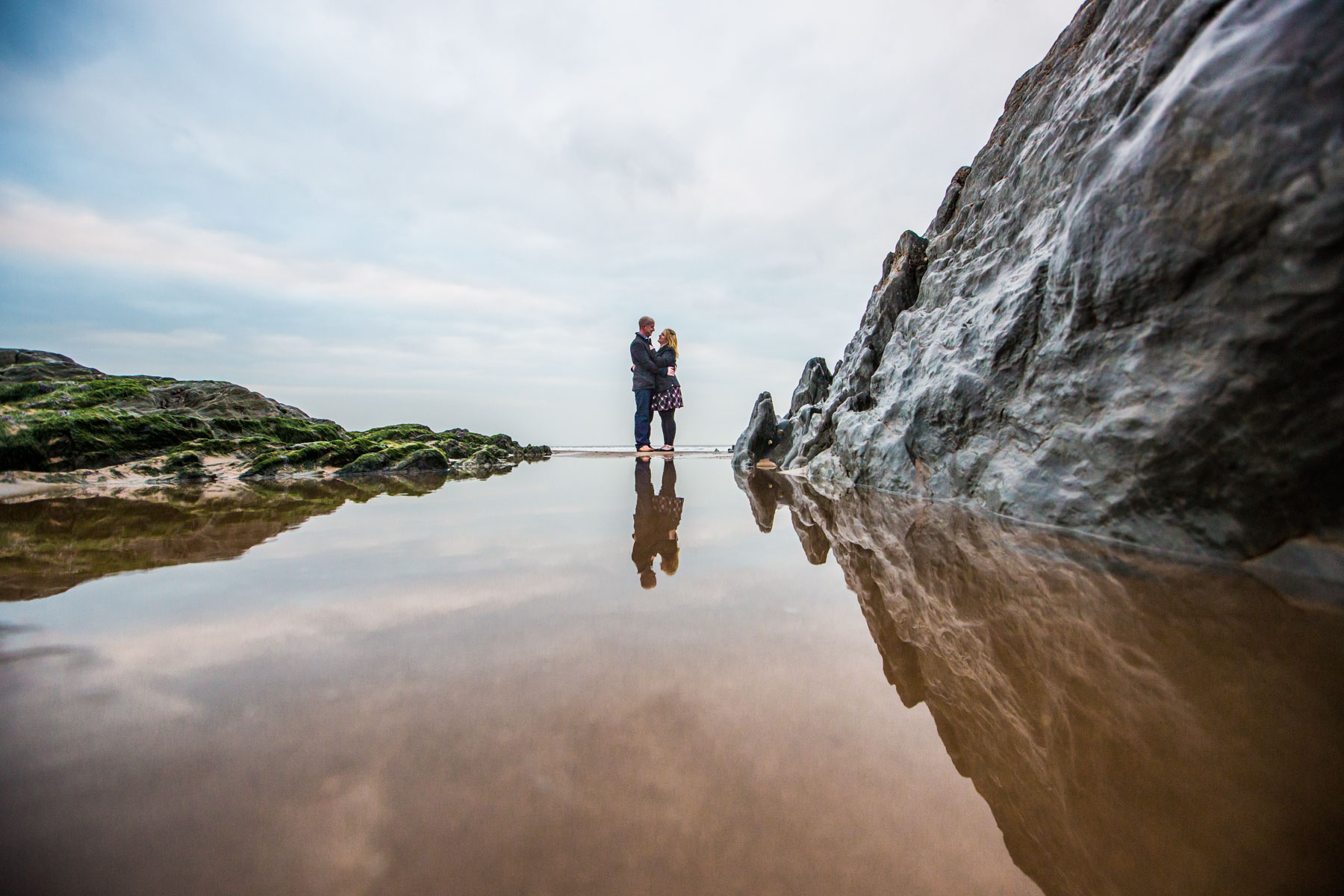 Devon Engagement Photography Woolacombe