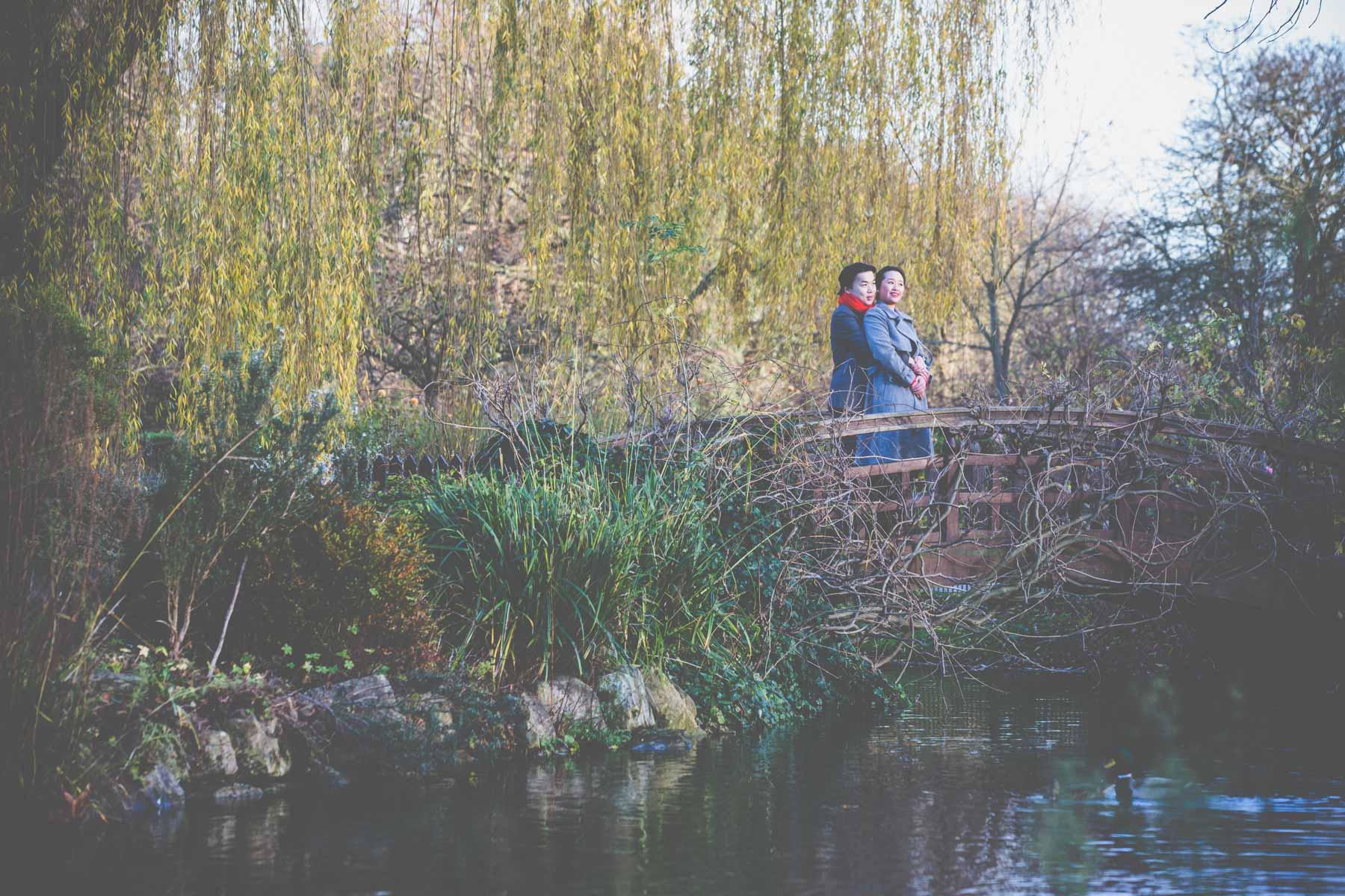 Chinese Wedding Photographer London Regents Park Engagement Shoo