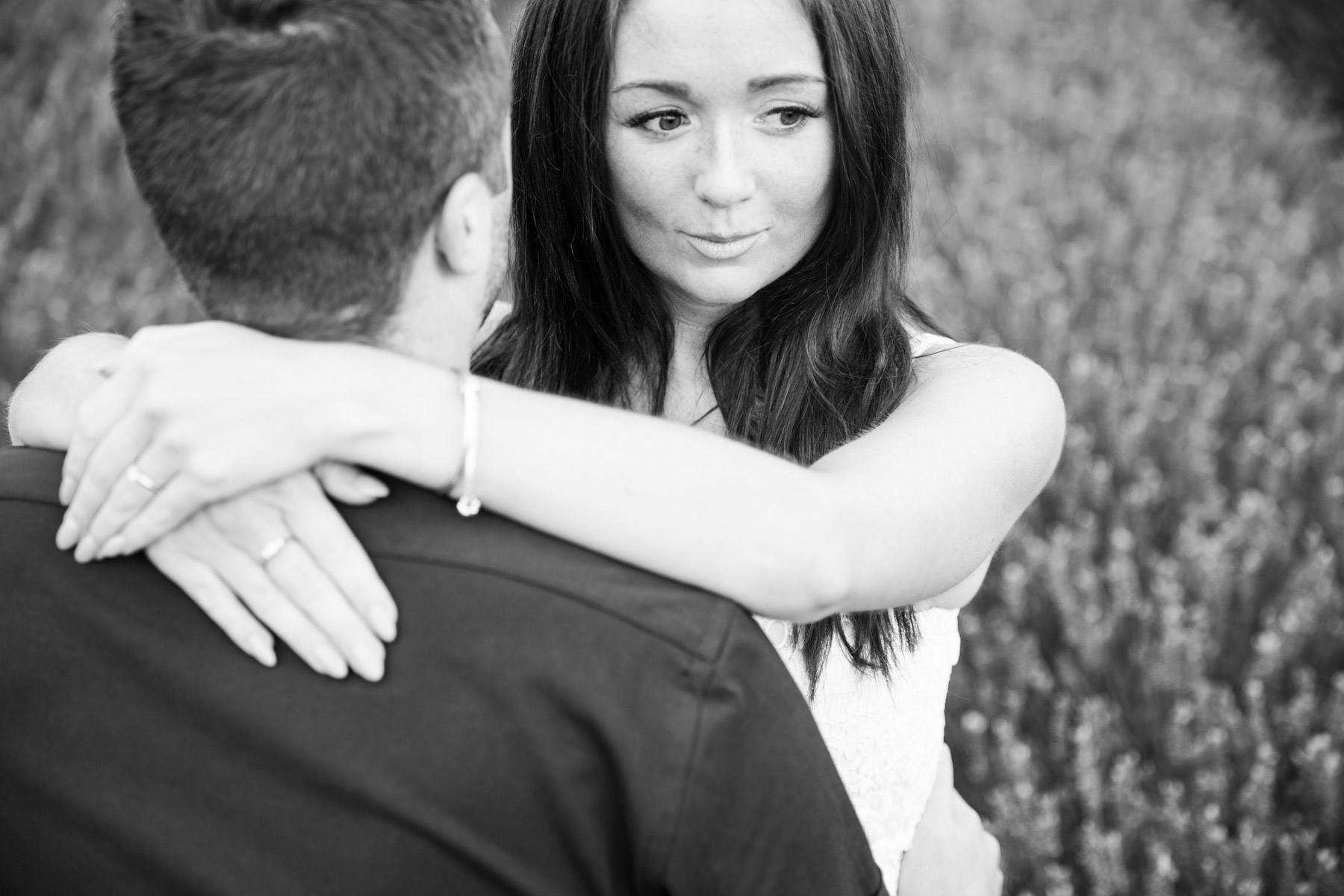 Mayfield Lavender Farm Engagement Shoot