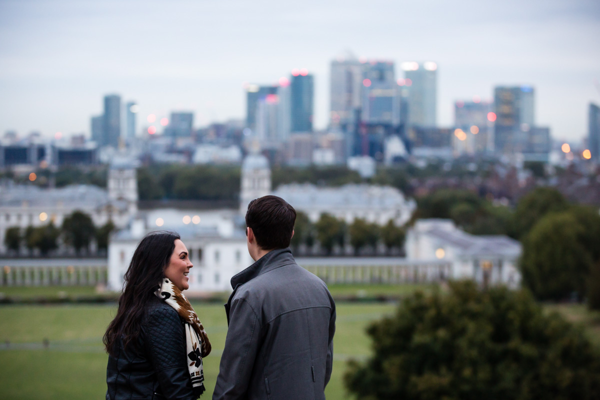 Greenwich Engagement Photographer - Toni and Chris