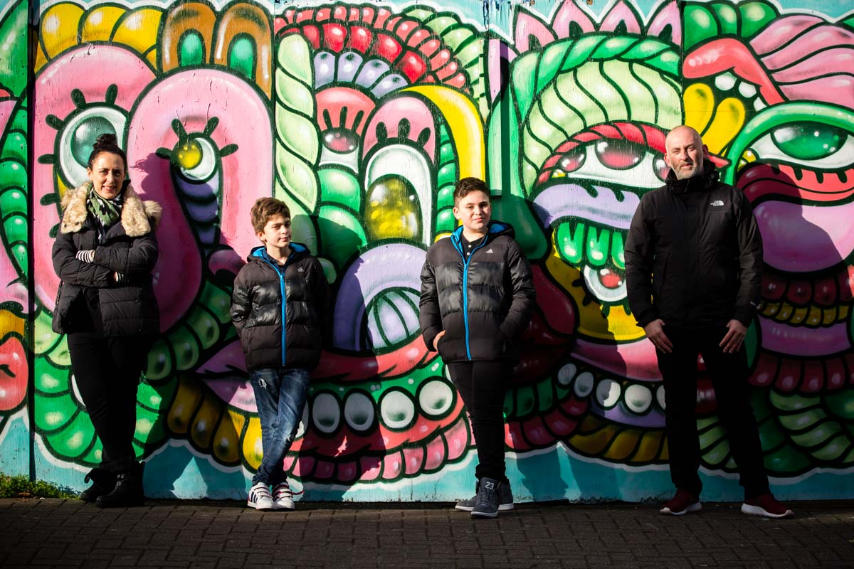 Roundhouse Camden Family Photography Bar Mitzvah - Sam and Family
