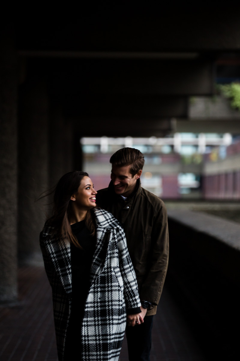 Barbican City of London Engagement Photography - Emma and Lynden