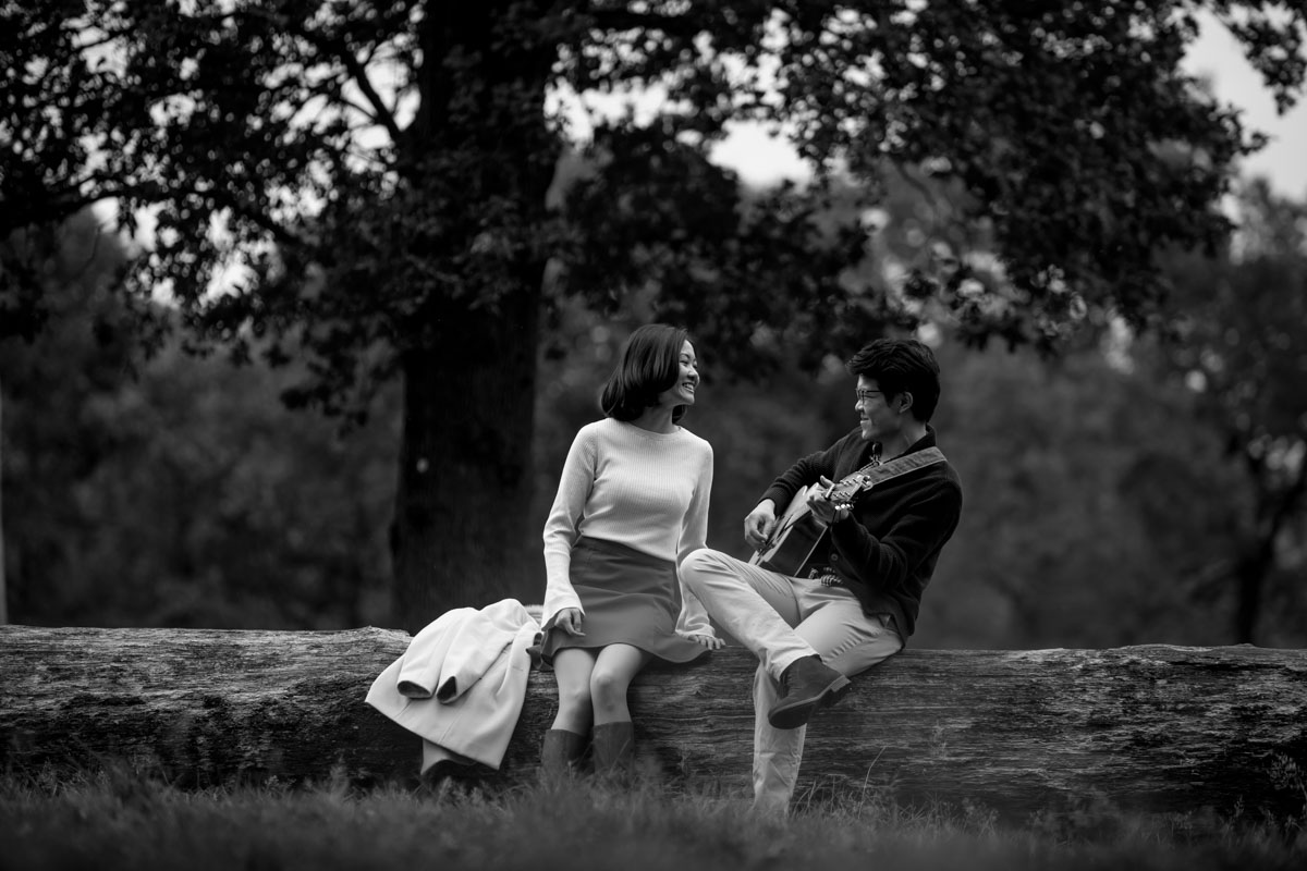 London Chinese Pre Wedding Photography Richmond Park - Carolyn and Wilfred