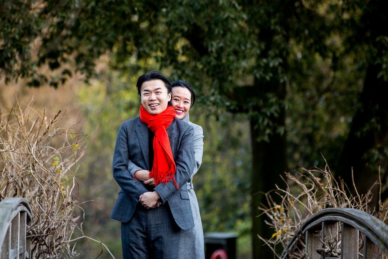Chinese Engagement Photographer Regents Park Engagement Shoot