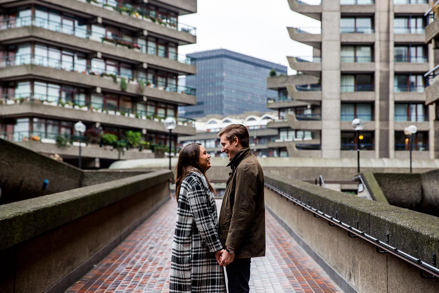 Barbican City of London Engagement Photography - Emma & Lynden