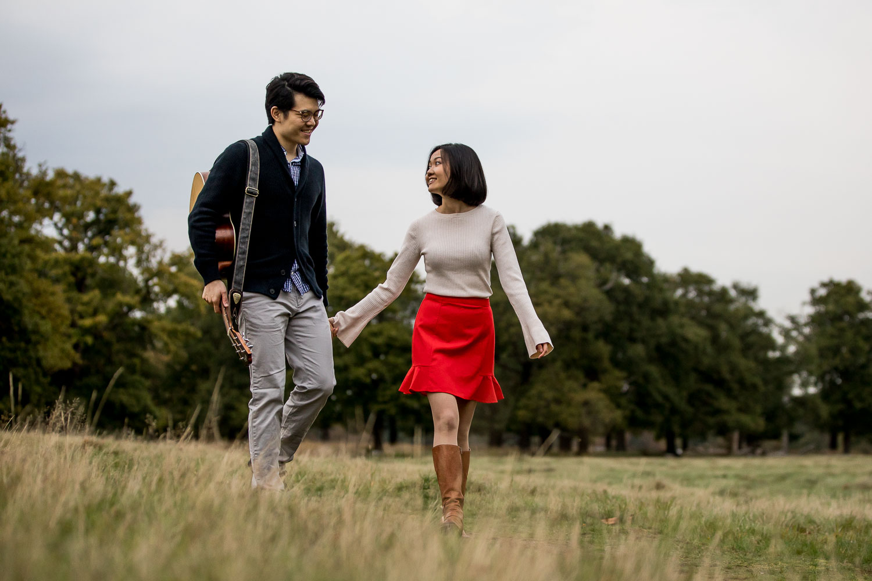 London Chinese Pre Wedding Photography Richmond Park