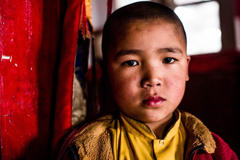 Monastery boy in the Himalaya