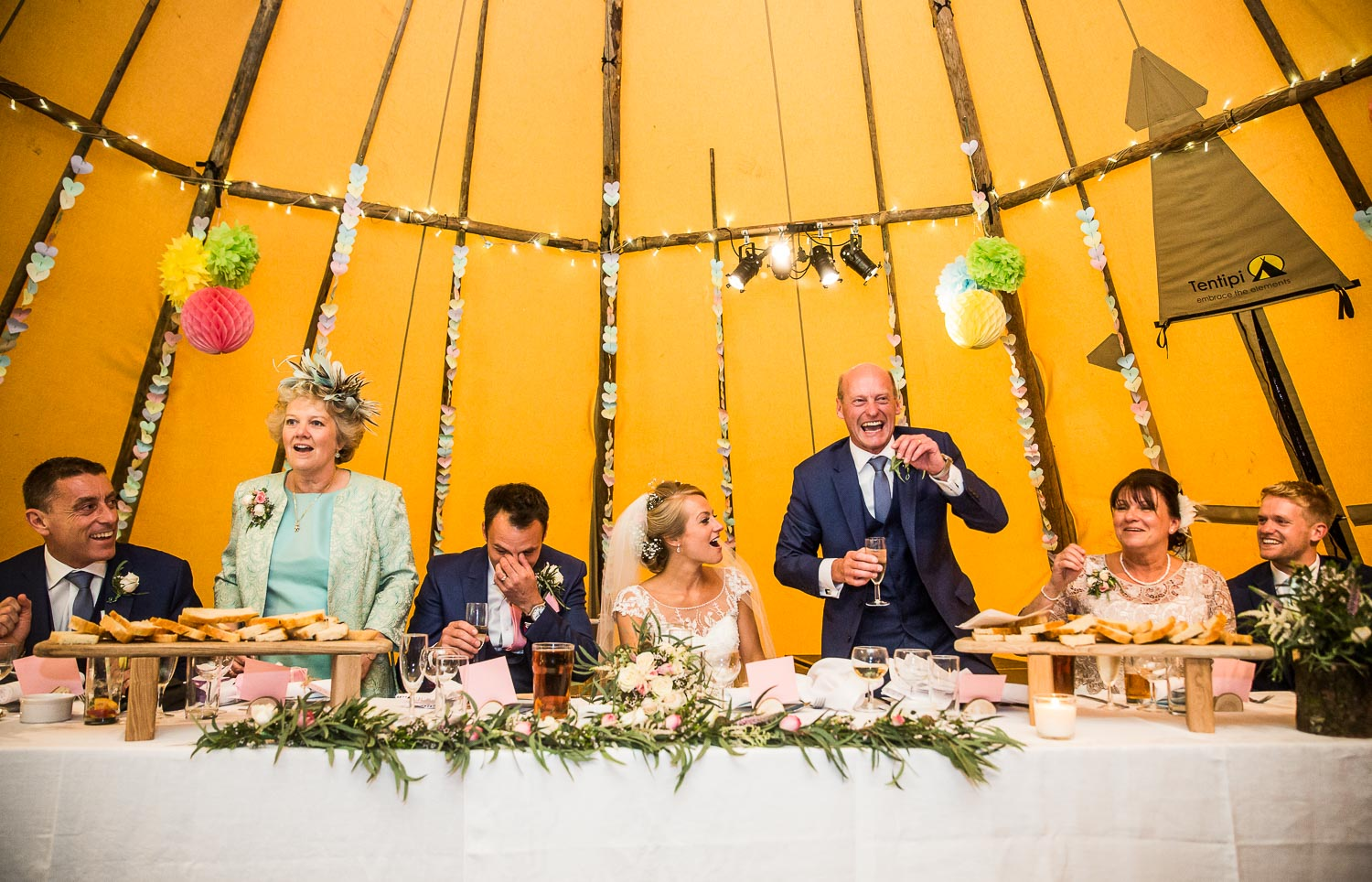 World Inspired Tents Tipi Wedding Photography North Devon